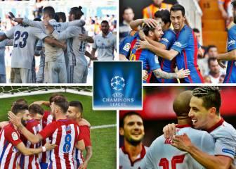 Madrid, Barça, Atleti y Sevilla se pueden clasificar esta semana