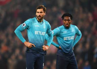 El Stoke City se aleja de abajo tras imponerse al Swansea