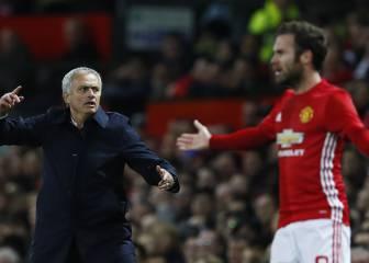 Mata tuvo que tranquilizar a su familia cuando Mourinho llegó