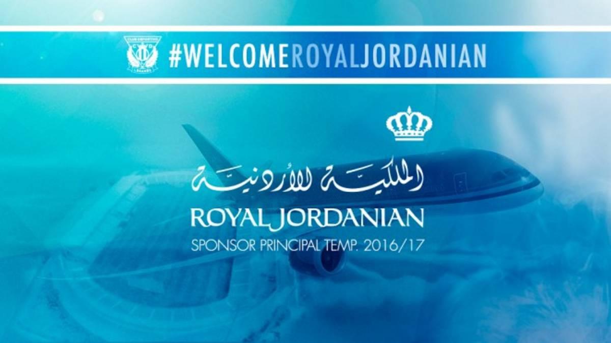 Leganés estrenará sponsor ante el Real Madrid: Royal Jordania