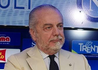 El presidente del Nápoles dice que Sarri rechazó a Aubameyang