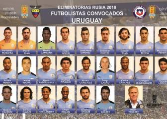 Giménez, Godín y Suárez, convocados con Uruguay