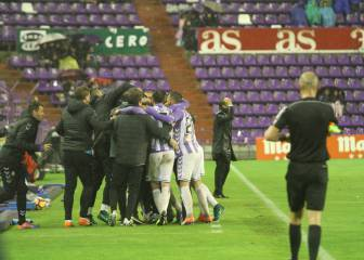 El Valladolid, en playoff tras coquetear con el descenso