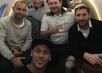 Neymar y Messi, juntos a Belo Horizonte antes de enfrentarse