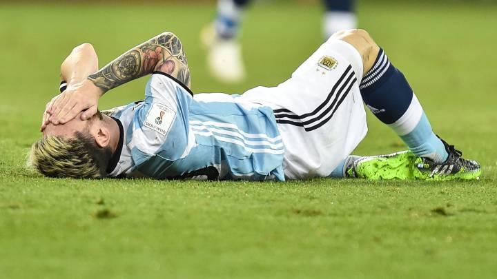 Messi, tocado: \