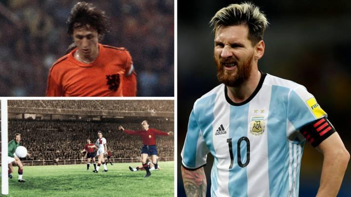 Cruyff, Di Stéfano y Messi.