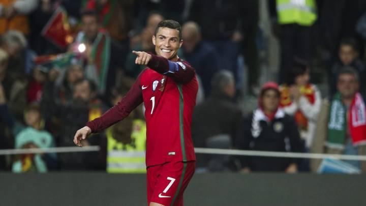 Cristiano Ronaldo celebra su segundo gol.