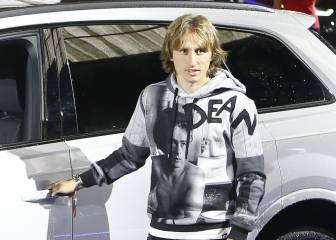 Modric aterrizó en Madrid: