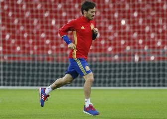 Silva se entrenó aparte por un golpe, pero no está descartado