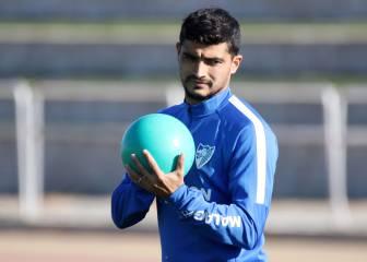 Chory Castro se retira del entrenamiento del Málaga