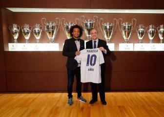 Los regalos del club a Marcelo por sus diez años de blanco