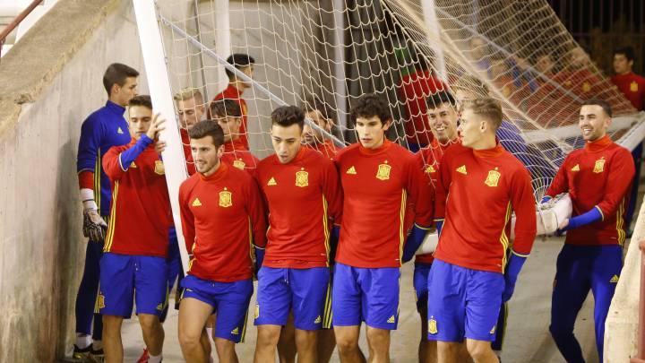 Los chicos de la Selección Sub-21 se ejercitaron en el Carlos Belmonte a puerta abierta. Buscarán la victoria ante Austria.