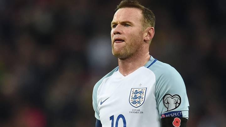Wayne Rooney, durante el Inglaterra-Escocia, en Wembley.