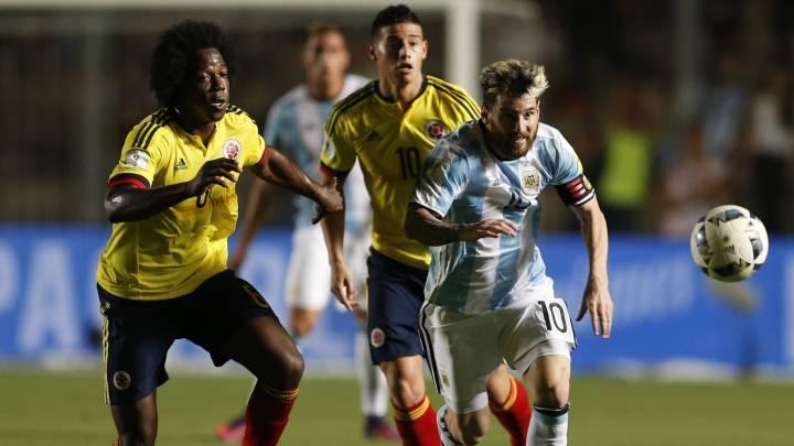 Messi hizo un gran partido con Argentina ante Colombia