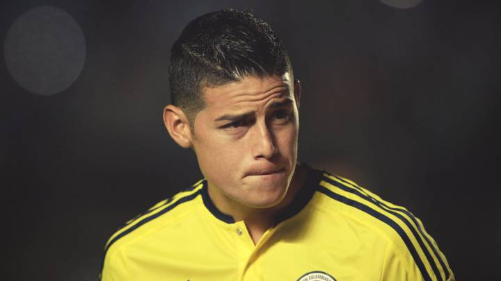 James Rodríguez con Colombia.