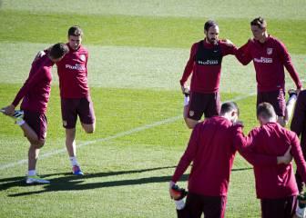 Griezmann y Gaitán llegarán al derbi contra el Real Madrid