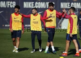 Luis Enrique recupera de una tacada a Piqué, Mathieu y Alba