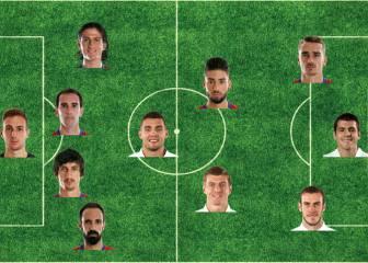 El once del derbi en Comunio: 7 del Atlético y 4 del Madrid