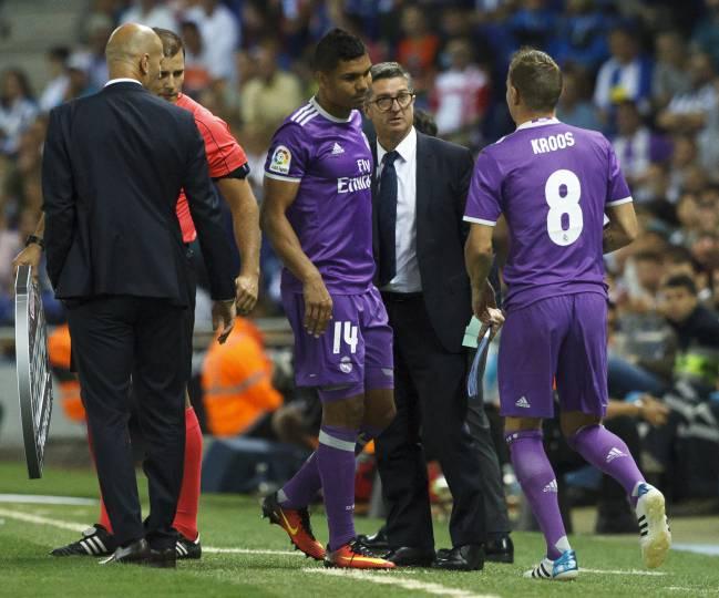 Casemiro, jugador del Real Madrid, se lesionó ante el Espanyol, el 18 de septiembre.