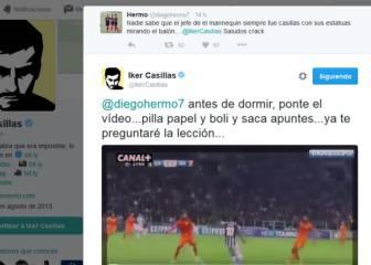 Casillas se enzarza con un tuitero por llamarle 'jefe del mannequin'