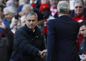 Saludo frío y sin mirarse entre Wenger y Mourinho