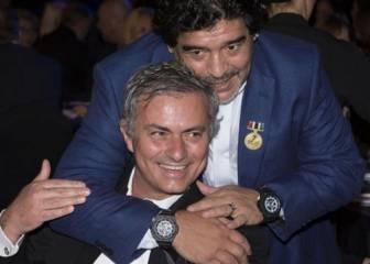 Mourinho agradeció la llamada de Maradona tras el empate