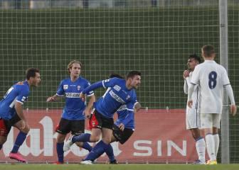 El Castilla vive una hecatombe y cae 0-4 con el Logroñés
