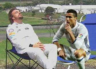 Cristiano's thinking celebration gets people memeing