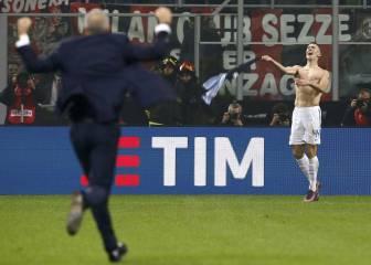 Perisic da un punto al Inter en el 92' tras dos golazos de Suso
