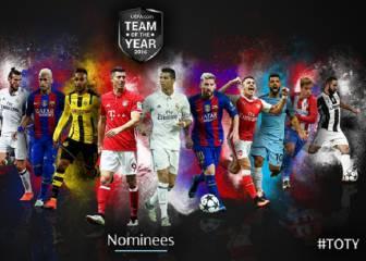 Candidatos al 11 UEFA: 8 del Madrid, 5 del Atleti y 5 del Barça