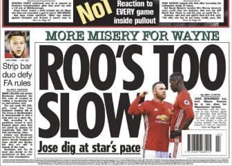 Mourinho dejó en el banquillo a Rooney por lento