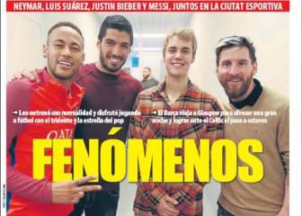 Todo al tridente en la prensa de Barcelona