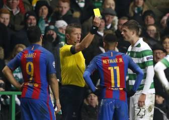 Neymar vio la amarilla y flirteó con la roja: llega limpio a octavos