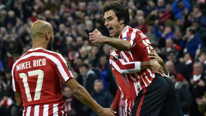 El equipo vasco remontó el cómico gol de Balenziaga en propia y se llevó tres puntos básicos. Aduriz, Raúl García y Lekue marcaron los goles.