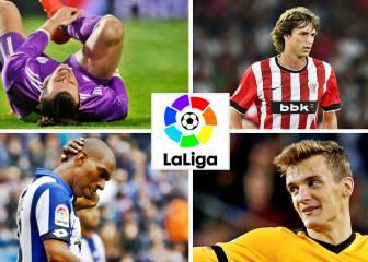 Lesionados y sancionados para la jornada 13 de Liga Santander
