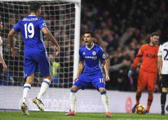 El Chelsea recupera el liderato con goles de Moses y Pedro