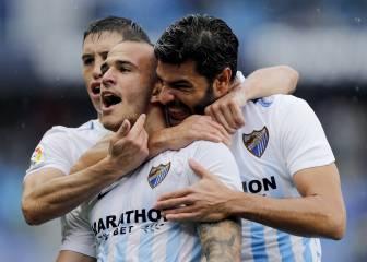 El Málaga saca más partido que el Depor a la montaña rusa