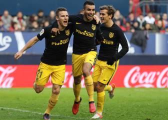 Todos los goles del Osasuna-Atlético de Madrid en imágenes