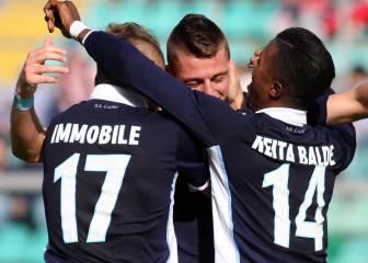 El Lazio no falla en Palermo y es momentáneamente tercero