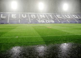 Suspendido el Levante-Rayo Vallecano: