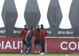 El Sevilla vuelve al trabajo con Carlos Bacca... de visita