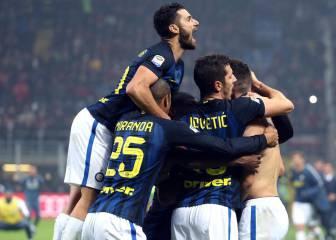 El Inter empieza arrollando y termina sufriendo para ganar