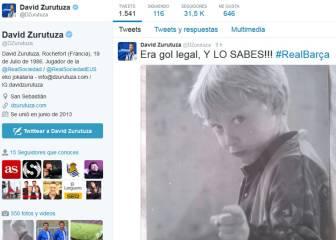 La ironía de Zurutuza sobre el gol mal anulado a Juanmi