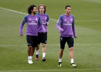 Cristiano y Varane, listos; Morata y Kroos ya tocan balón