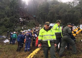 Las imágenes del accidente del Chapecoense en Colombia