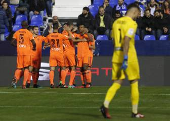 El Valencia resuelve en Butarque pese al gol de Machís