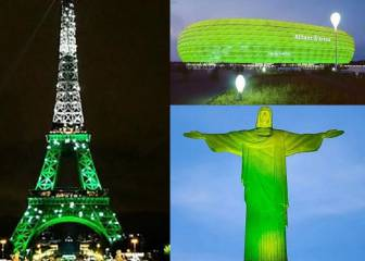 Iconic buildings go green as Chapecoense tribute