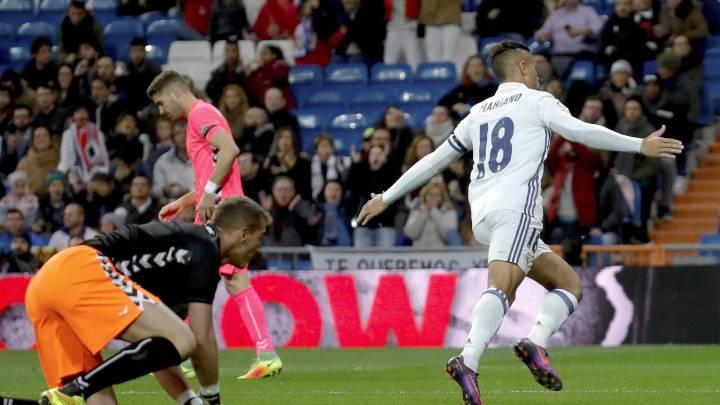 Mariano hizo el gol más rápido del Madrid en Copa del Rey