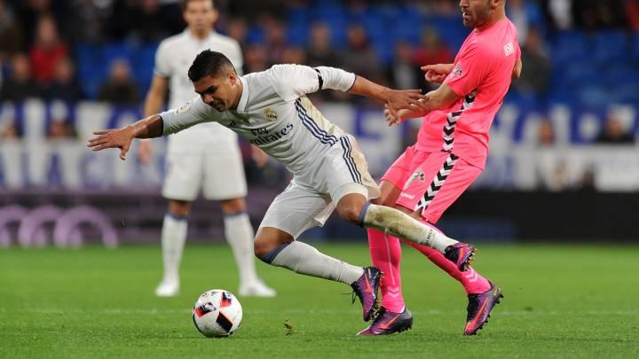 Casemiro, centrocampista del Real Madrid, jugó ante la Cultural en Copa.