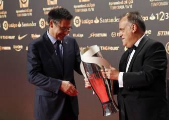 El Barça no fue a la Gala de LaLiga y Tebas no va al Clásico